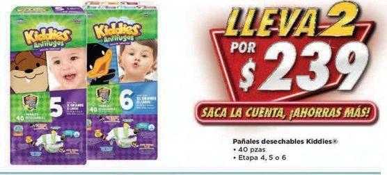 Oferta de Pañales Kiddies por $239