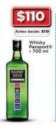 Oferta de Whisky Passport Scotch 700 ml por $110