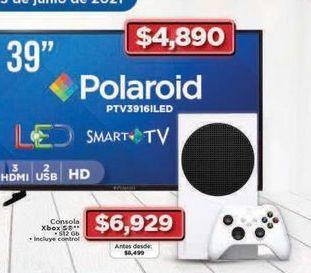 """Oferta de Smart tv Polaroid 39"""" por $4890"""