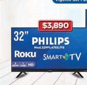 "Oferta de Smart tv Philips 32"" por $3890"