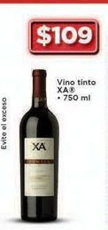 Oferta de Vino tinto XA 109 ml por $109