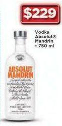 Oferta de Vodka Absolut Mandarin 750 ml por $229