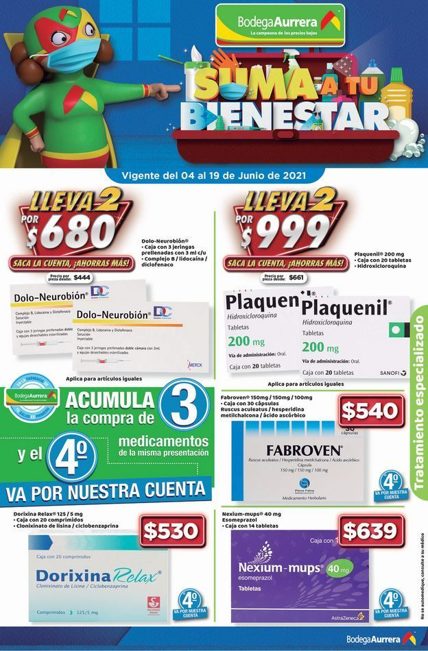 Oferta de SUMA A TU BIENESTAR / BODEGA AURRERA por