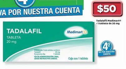 Oferta de TADALAFIL Medimart por $50