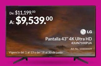 """Oferta de Pantalla 43"""" 4K Ultra HD por $9539"""
