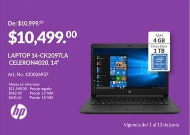 Oferta de Laptop HP por $10499
