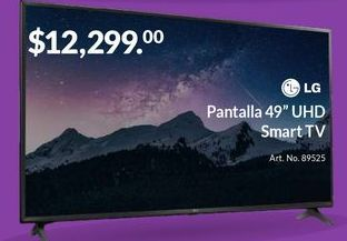 "Oferta de Pantalla 49"" UHD Smart TV por $12299"