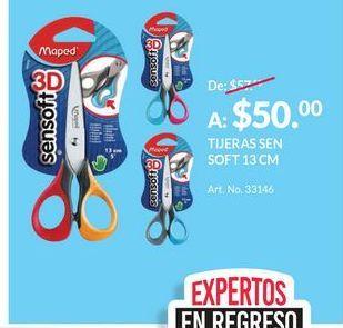 Oferta de TIJERAS SEN SOFT 13 CM por $50