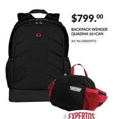 Oferta de Backpack Wenger Quadma 16+Can por $799