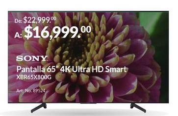"""Oferta de Pantalla 65"""" 4K Ultra HD Smart por $16999"""
