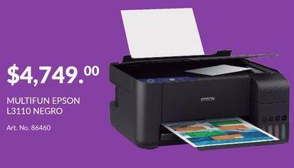 Oferta de Multifuncional Epson L3110 Negro por $4749
