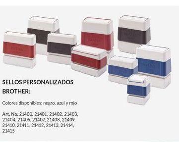 Oferta de Sellos Personalizados Brother por