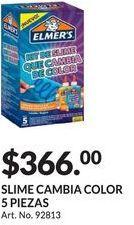 Oferta de SLIME CAMBIA COLOR 5 PIEZAS por $366