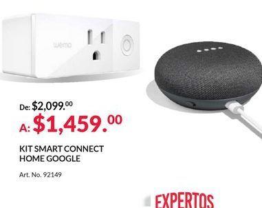 Oferta de Kit Smart Connect Home Google por $1459