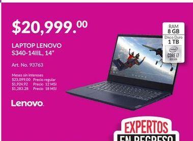 Oferta de Laptop Lenovo por $20999