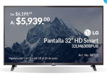 """Oferta de Pantalla 32"""" HD Smart por $5939"""