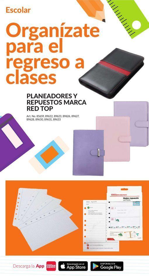 Oferta de ORGANIZATE PARA EL REGRESO A CLASES // Planeadores y Repuestos Marca Red Top por