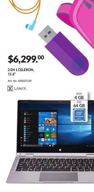 Oferta de Laptop Lanix por $6299