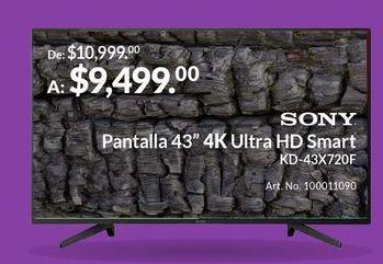 """Oferta de Pantalla 43"""" 4K Ultra HD Smart por $9499"""