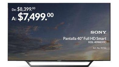 """Oferta de Pantalla 40"""" Full HD Smart por $7499"""