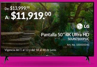 """Oferta de Pantalla 50"""" 4K Ultra HD por $11919"""