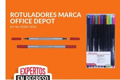 Oferta de Rotuladores Marca Office Depot por