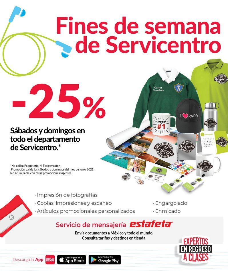 Oferta de -25% Fines de semana Servicentro por