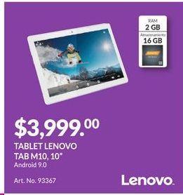 Oferta de Tablet Lenovo por $3999
