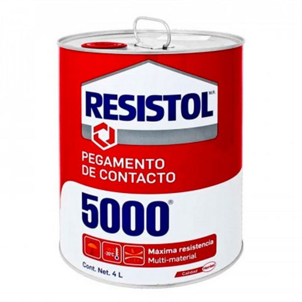Oferta de Pegamento De Contacto Amarillo P/uso General Lata 4 Lts Resistol 5000 por $615.72