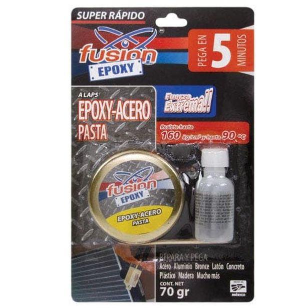 Oferta de Adhesivo Epoxico Plasti Acero Pasta Lata 5 Min Alap5 Fusion Epoxi por $80.54