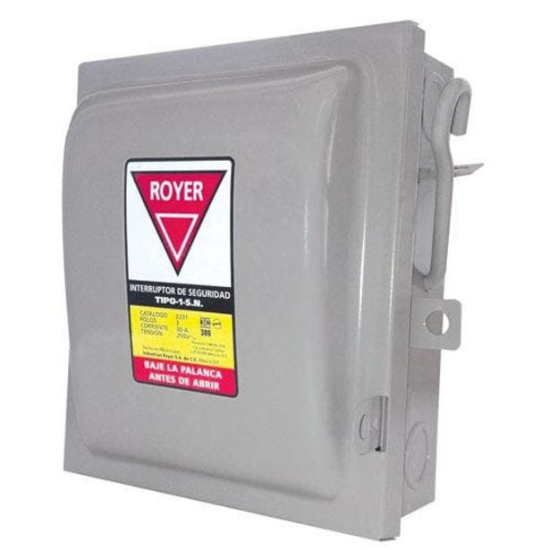 Oferta de Interruptor De Seguridad 2x30amp 2221 Royer por $159.94