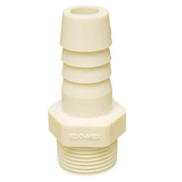 Oferta de Adaptador De Insercion Rca Ext Espiga Nylon 6 19mm 3/4 Edomex por $12.49