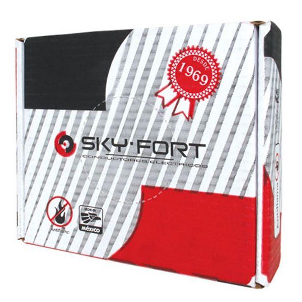 Oferta de Cable Cobre Thw # 10 600v 90° Negro Skyfort 100 Mts por $1745.06
