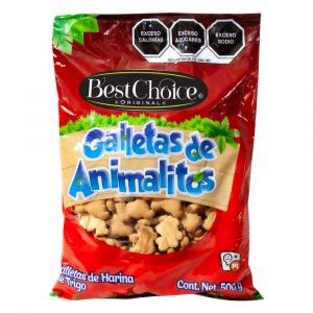 Oferta de GALLETA BEST CHOICE ANIMALITOS 500 GRS. por $15.5