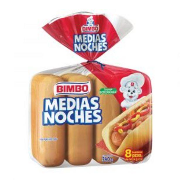 Oferta de MEDIAS NOCHES BIMBO 340 GR por $31.9