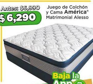 Oferta de Colchón  y cama America matrimonial Alesso por $6290