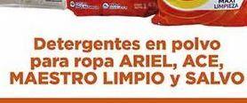 Oferta de Detergente en polvo para ropa Ariel, Ace, Maestro limpio y Salvo por