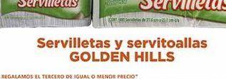 Oferta de Servilletas y servitoallas Golden Hills por