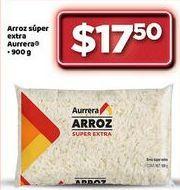 Oferta de Arroz Súper extra Aurrera por $17.5