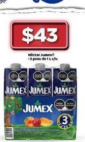 Oferta de Jugos Jumex por $43