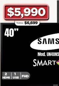 """Oferta de Smart tv Samsung 40 """" por $5990"""