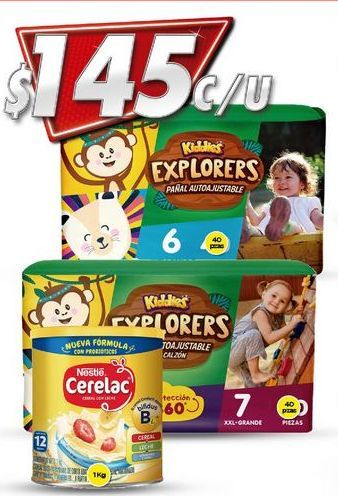 Oferta de Pañales Kiddies por $145