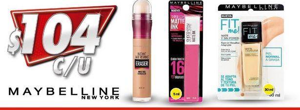 Oferta de Cosmeticos Maybelline por $104