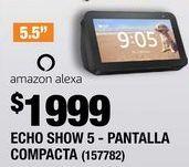 Oferta de ECHO SHOW 5 - PANTALLA COMPACTA DE 5.5 CON ALEXA - NEGRO por $1999