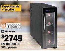 Oferta de ENFRIADOR DE VINO 4 BOTELLAS SOMMELIER KOBLENZ por $2749