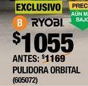 """Oferta de PULIDORA ORBITAL DE 10"""" DE 3200 OPM RYOBI por $1055"""