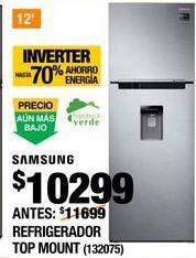 Oferta de REFRIGERADOR TOP MOUNT SAMSUNG 12 PIES por $10299
