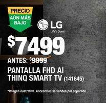 Oferta de PANTALLA FHD AI THINQ SMART TV DE 43 PULGADAS LG por $7499