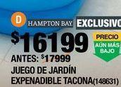 Oferta de COMEDOR DE JARDÍN EXPANDIBLE TACONA CAFÉ 6 SILLAS ESTRUCTURA DE MADERA por $16199