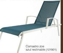 Oferta de Camastro Zoe Azul reclinable por
